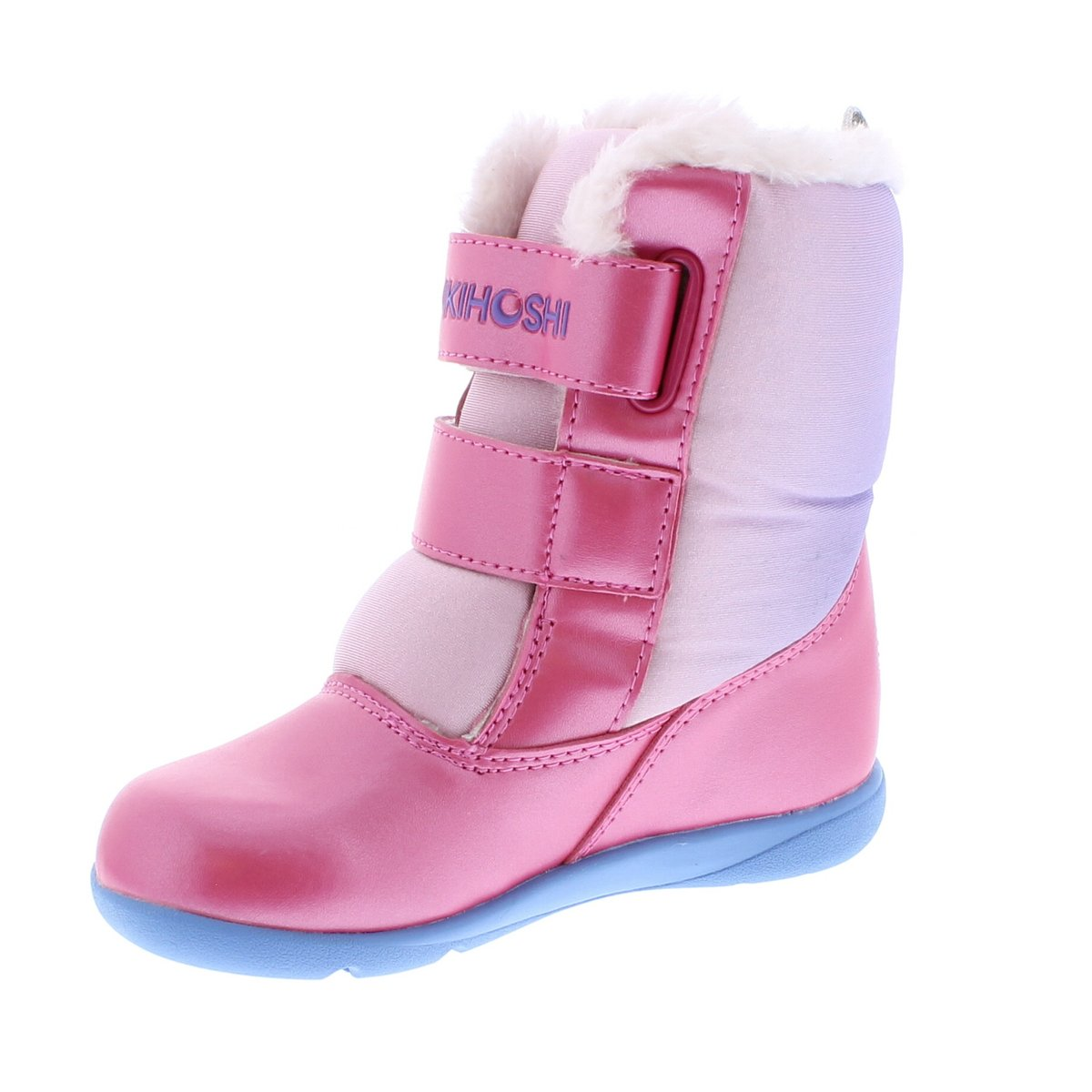 Child Tsukihoshi Teddy Boot in Fuchsia/Purple from the front view