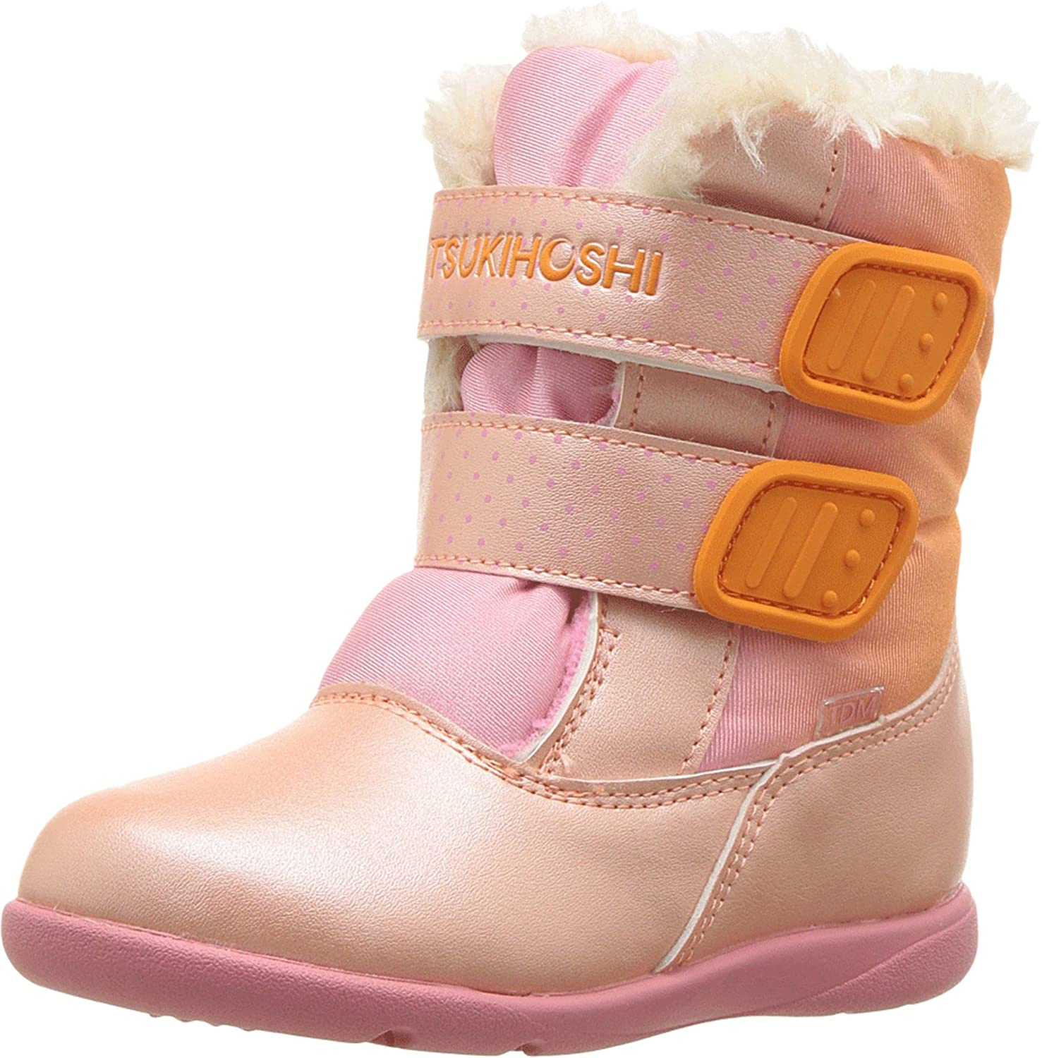 Child Tsukihoshi Teddy Boot in Peach/Pink