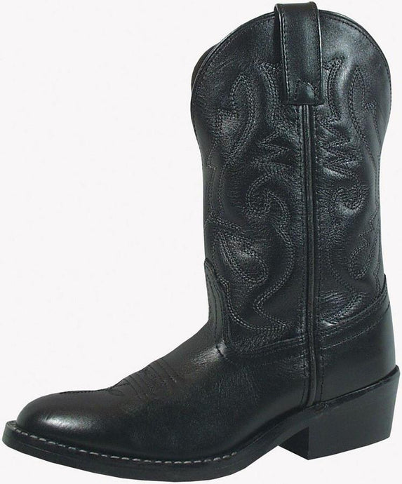 Children's Smoky Mountain Denver Leather Boot (EE) in Black