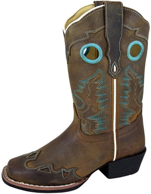 Children's Smoky Mountain El Dorado Leather Boot in Brown Distress