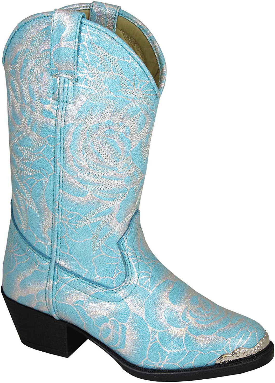 Children's Smoky Mountain Lexie Turquoise Western Cowboy Boot in Turquoise / Silver