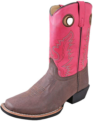 Children's Smoky Mountain Memphis Western Boot in Brown/Pink