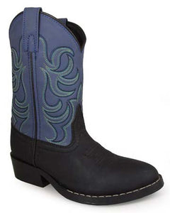 Children's Smoky Mountain Monterey Boot in Black/Blue