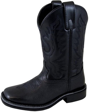 Children's Smoky Mountain Outlaw Leather Western Cowboy Boot in Black