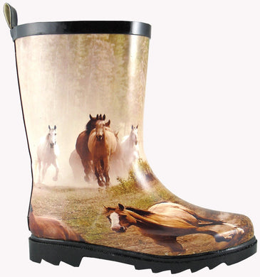 Children's Smoky Mountain Running Horse Boot in Horses