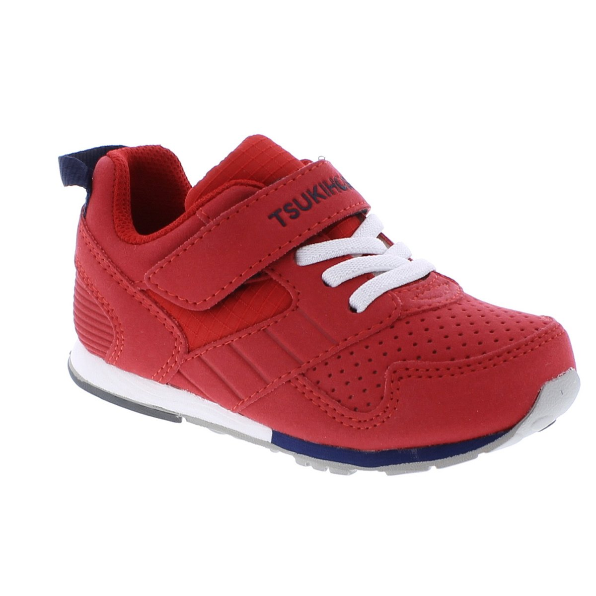 Childrens Tsukihoshi Racer Sneaker in Red/Navy from the front view