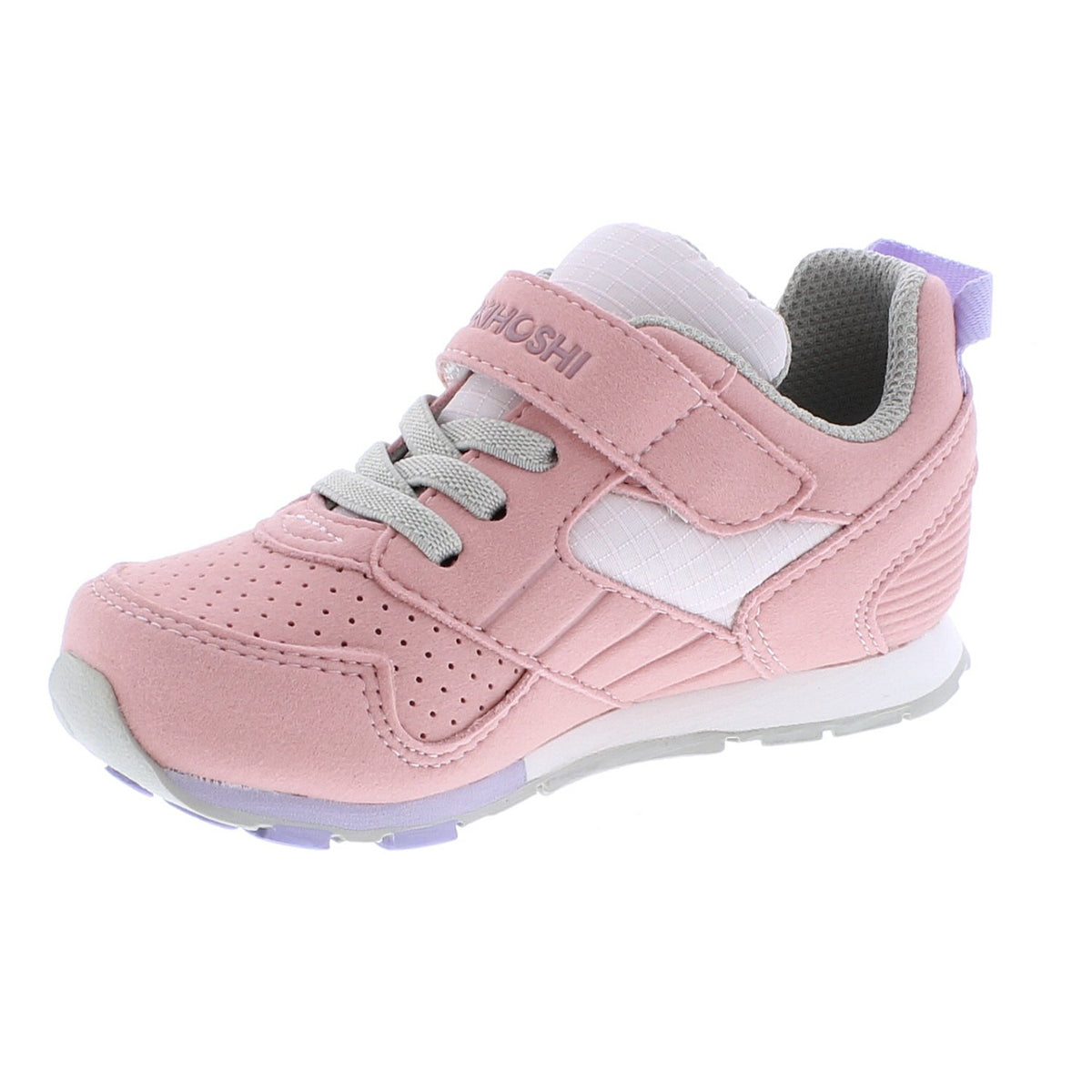 Childrens Tsukihoshi Racer Sneaker in Rose/Pink from the front view