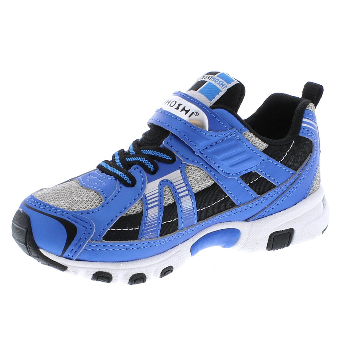Childrens Tsukihoshi Storm Sneaker in Blue/Gray from the front view