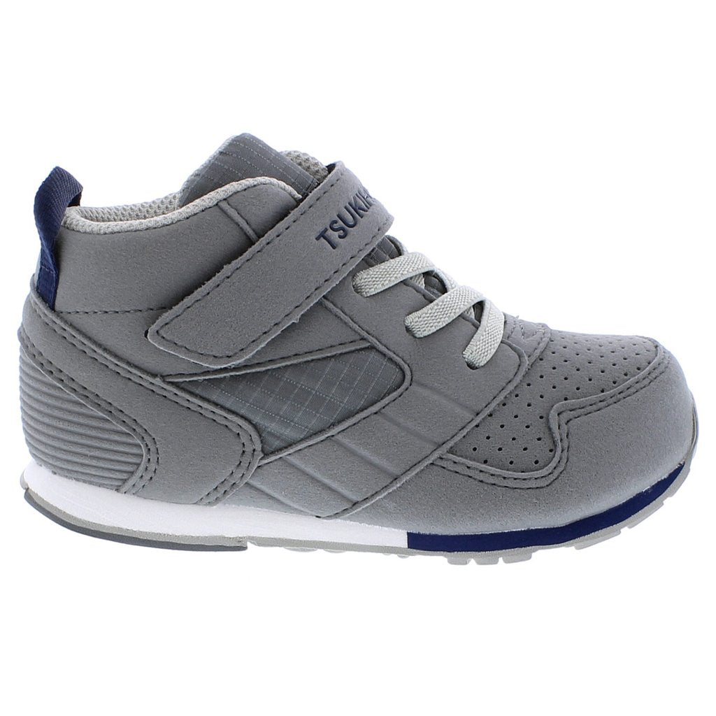 Child Tsukihoshi Racer-Mid Sneaker in Gray/Navy