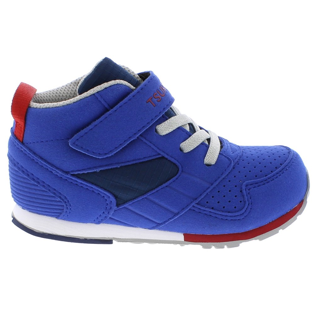 Child Tsukihoshi Racer-Mid Sneaker in Royal/Red