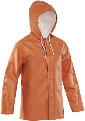 Clipper 282 Jacket in Orange color from the front view