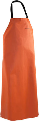 Clipper Apron in Orange color from the front view