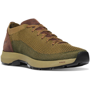 "Danner Men's Caprine Low 3"" Lifestyle Shoe in Olive/Pinecone from the side"