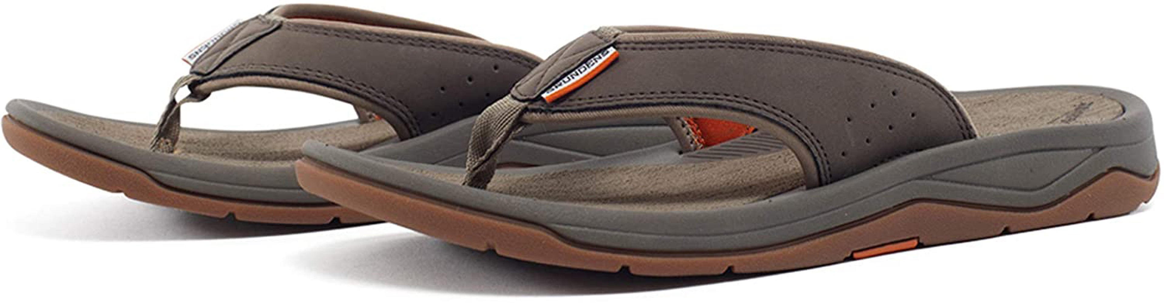 Deck-Boss Sandal in Brindle color from the side view