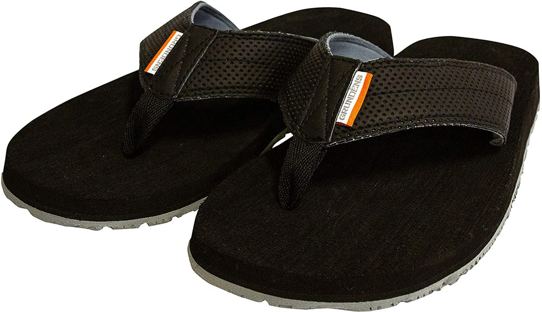 Deck Hand Sandal in Black color from the side view