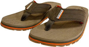 Deck Hand Sandal in Brindle color from the side view
