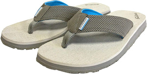Deck Hand Sandal in Glacier Grey color from the side view