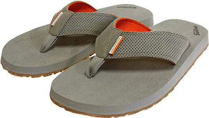 Deck Hand Sandal in Monument Grey color from the side view