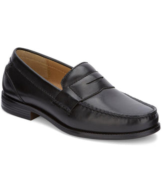 Dockers Mens Colleague Dress Penny Loafer Shoe in Black from the side view