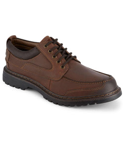 Dockers Men's Overton Rugged Oxford Shoe in Red Brown from the side view