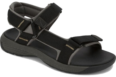 Dockers Mens Zander Outdoor Sport Sandal Shoe in Black from the side view