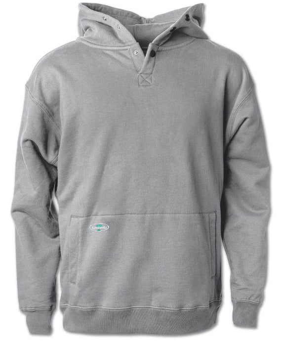 Double Thick Pullover Sweatshirt in Athletic Grey color from the front view