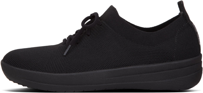 F-Sporty Uberknit Sneakers in All Black from the side