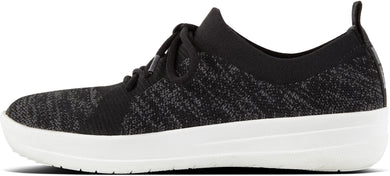 F-Sporty Uberknit Sneakers in Black from the side