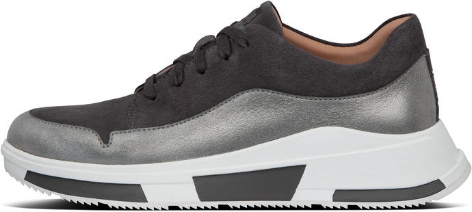 Freya Suede Sneakers in Grey from the side