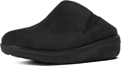 Loaff Suede Clogs in Black from the side
