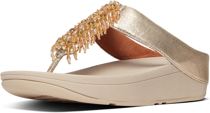 Velma Adorn Toe-Thongs in Artisan Gold from the side