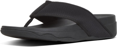 Virra Mesh Toe-Thongs in Black from the side