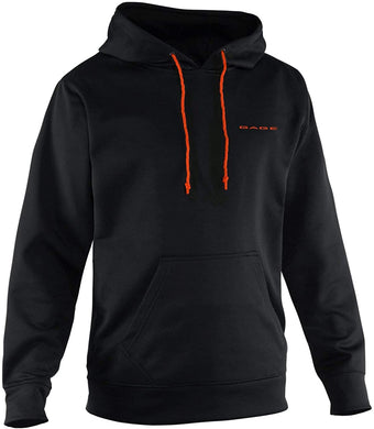Fogbow Tech Hoodie in Black color from the front view
