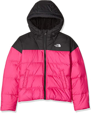 Girl's The North Face Moondoggy Down Jacket Jacket in Mr. Pink