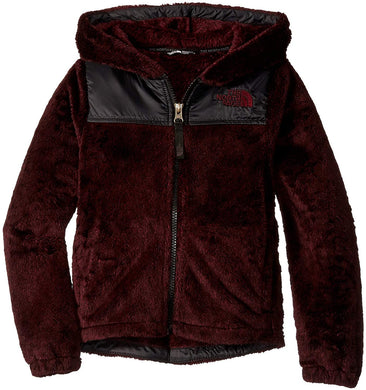 Girl's The North Face Oso Hoodie Hoodie in Deep Garnet Red Heather