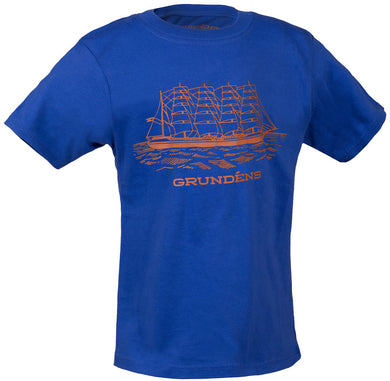 Toddler Ship T-Shirt in Royal Blue color