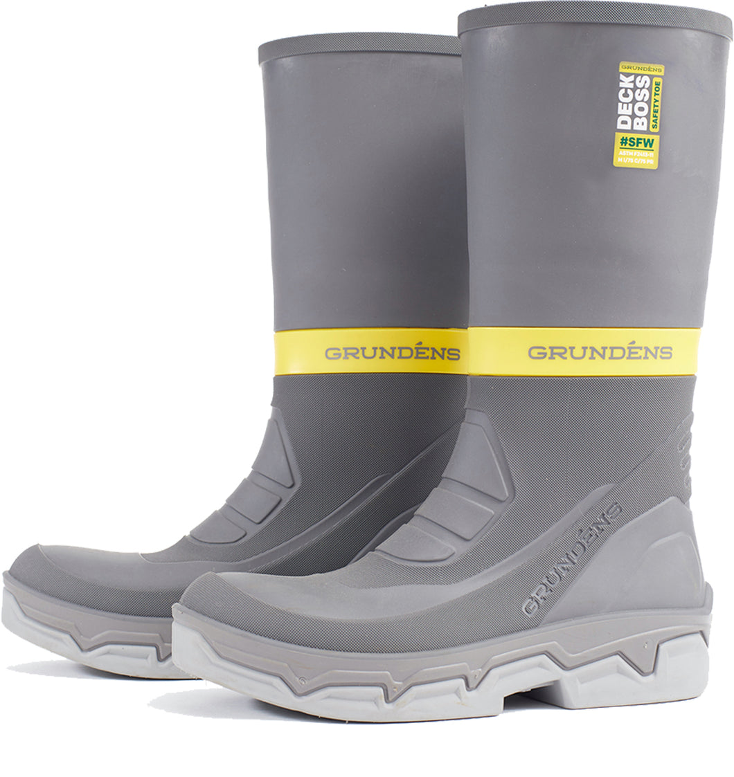 Deck-Boss Safety Toe Boot in Grey color