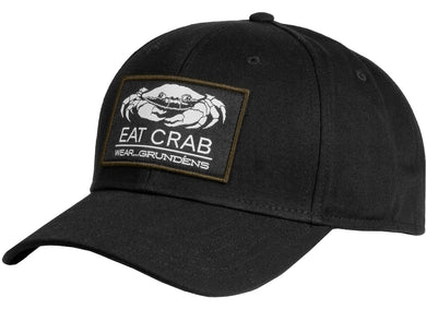 Eat Crab Snap Back Ball Cap in Black color