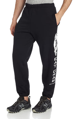 Eat Crab Sweatpant in Black color