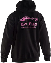 Load image into Gallery viewer, Eat Fish Hooded Sweatshirt in Pink color