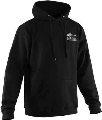 Eat Fish Hooded Sweatshirt in Black color