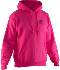 Eat Fish Hooded Sweatshirt in Pink color