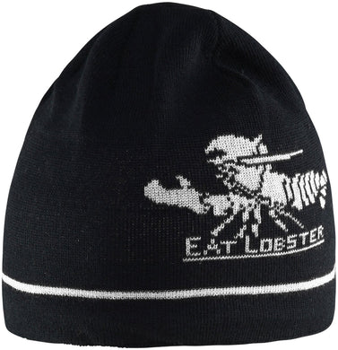 Eat Lobster Beanie in Black color
