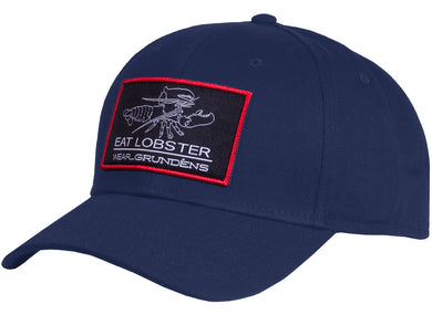 Eat Lobster Snap Back Ball Cap in Navy color