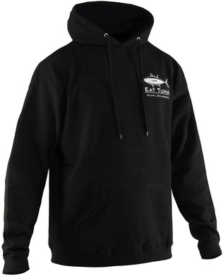 Eat Tuna Hooded Sweatshirt in Black color