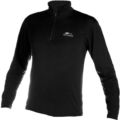 Fiske Skin 1/4 Zip Shirt in Black color
