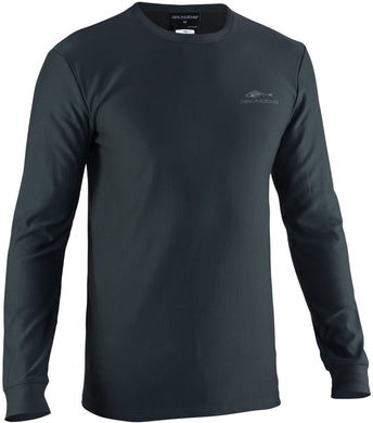 Grundies Base Layer Crew Top in Dark Slate color