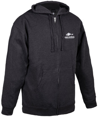 Hooded Outdoor Full Zip Sweatshirt in Heather Charcoal color