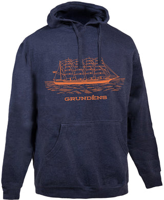 Ship Hooded Sweatshirt in Heather Navy color