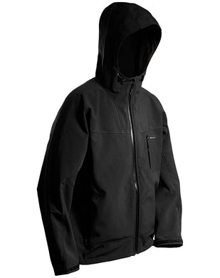 Weather Gage Hooded Softshell Jacket 100 in Black color